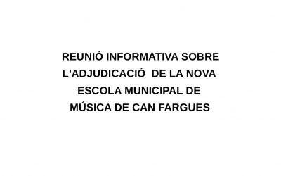 REUNIÓ INFORMATIVA SOBRE EL CONCURS DE L'ESCOLA MUNICIPAL