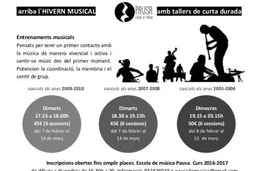 ENTRENAMENTS MUSICALS d'HIVERN infants