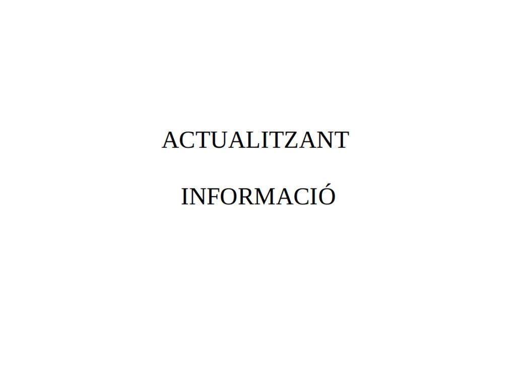 ACTUALITZANT INFORMACIÓ