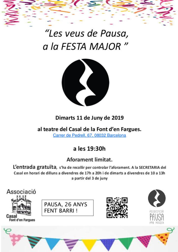 Cartell Concert Festa Major 11 de Juny-1